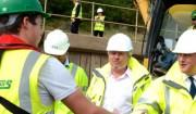 David Cameron meets Jones Bros engineer Eliott Bidmead