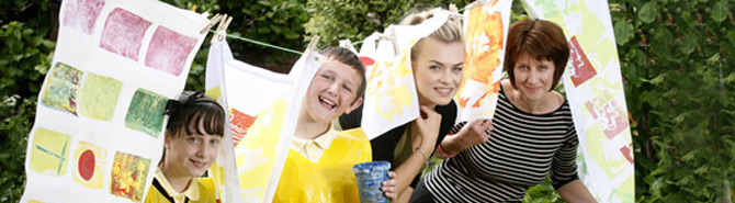 Jones Bros helps Denbighshire school pupils fly the flag for the Eisteddfod