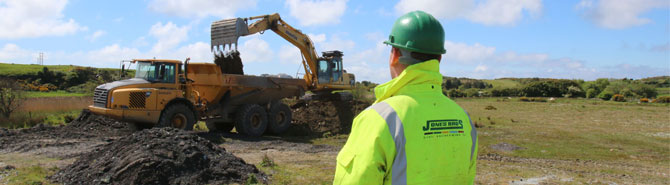 jones bros  drainage project  halt flooding  tal  bont village